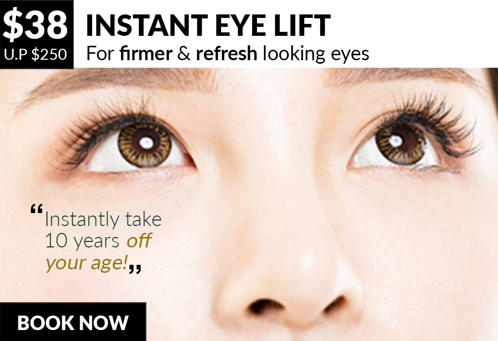 Your solution to firmer, reinvigorated & refresh looking eyes - 8 Medi Aesthetics Outlets:Somerset,Dhoby Ghaut,Bishan,Clementi,Tampines